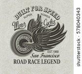 vintage motorcycle san... | Shutterstock .eps vector #578040343