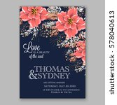 wedding invitation card with... | Shutterstock .eps vector #578040613