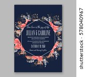 wedding invitation card with... | Shutterstock .eps vector #578040967