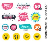 sale shopping banners. special... | Shutterstock .eps vector #578046127