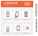 augmented reality  how it works ...   Shutterstock .eps vector #578053033