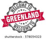 greenland. welcome to greenland ... | Shutterstock .eps vector #578054323