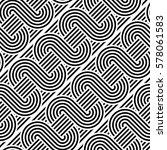 design seamless monochrome... | Shutterstock .eps vector #578061583