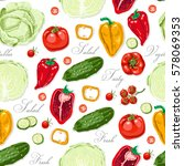 seamless pattern with colored... | Shutterstock .eps vector #578069353