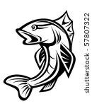 fishing symbol. vector version... | Shutterstock . vector #57807322