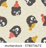 vector seamless pattern with... | Shutterstock .eps vector #578073673