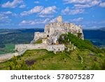 ancient ruin of spis castle  ... | Shutterstock . vector #578075287