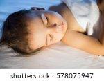 close up portrait of adorable... | Shutterstock . vector #578075947