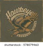 eagle. college. vintage college ... | Shutterstock .eps vector #578079463