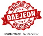 daejeon. welcome to daejeon... | Shutterstock .eps vector #578079817