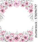 floral frame with little... | Shutterstock . vector #578096797