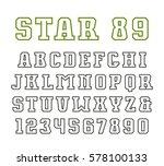 contour serif font in sport... | Shutterstock .eps vector #578100133