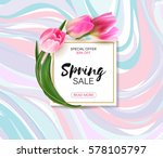 spring sale background with... | Shutterstock .eps vector #578105797
