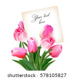 Bouquet Of Tulips With A Card...
