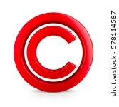 Sign Copyright On White...