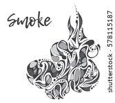 abstract decorative smoke | Shutterstock .eps vector #578115187