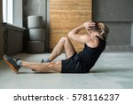 young man workout in fitness... | Shutterstock . vector #578116237