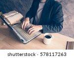 businessman a computer laptop...   Shutterstock . vector #578117263