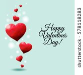 happy valentines day card with... | Shutterstock .eps vector #578118283
