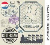 grunge rubber travel stamp or... | Shutterstock .eps vector #578119987