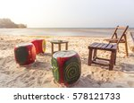 Small photo of Phuket Thailand beach concepts chill chill cool evening breeze.