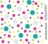 colourful circle pattern... | Shutterstock .eps vector #578137597