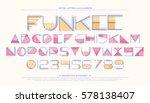 geometric style alphabet... | Shutterstock .eps vector #578138407