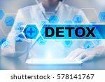 medical doctor using tablet pc... | Shutterstock . vector #578141767