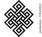 celtic pattern. element of... | Shutterstock .eps vector #578143513
