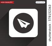 send or paper plane icon....