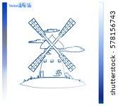 windmill vector icon. mill. | Shutterstock .eps vector #578156743