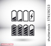 set of battery icon. vector ... | Shutterstock .eps vector #578158213