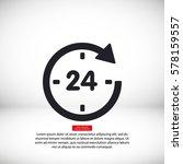 24 vector icon | Shutterstock .eps vector #578159557