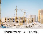 construction of new residential ... | Shutterstock . vector #578170507