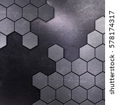 metallic background with... | Shutterstock . vector #578174317
