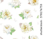 seamless pattern with white... | Shutterstock .eps vector #578176753