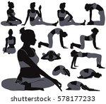 silhouettes of slim girl in... | Shutterstock .eps vector #578177233