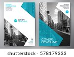 Business Brochure. Flyer Design. Leaflets a4 Template. Cover Book and Magazine. Annual Report Vector illustration | Shutterstock vector #578179333