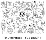 set of cartoon vector drawing...   Shutterstock .eps vector #578180347