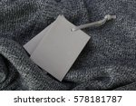 two rectangular tags on a grey... | Shutterstock . vector #578181787