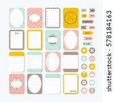template for notebooks. cute... | Shutterstock .eps vector #578184163