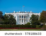 The White House And Lawn At Th...