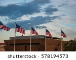 us flags in front of the... | Shutterstock . vector #578194573