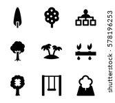 tree icon. set of 9 tree filled ... | Shutterstock .eps vector #578196253