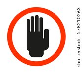 hand sign stop | Shutterstock .eps vector #578210263
