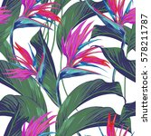 seamless floral pattern with... | Shutterstock .eps vector #578211787