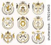 vector vintage heraldic coat of ... | Shutterstock .eps vector #578214043