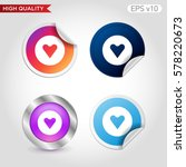 heart icon. button with heart... | Shutterstock .eps vector #578220673