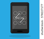 phone screen with unlock