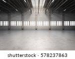 3d rendering empty factory... | Shutterstock . vector #578237863